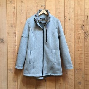 Andrew Marc Full Zip Heather Gray Coat Jacket